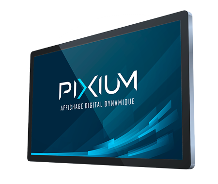 Ecran professionnel pour affichage dynamique par Pixium.