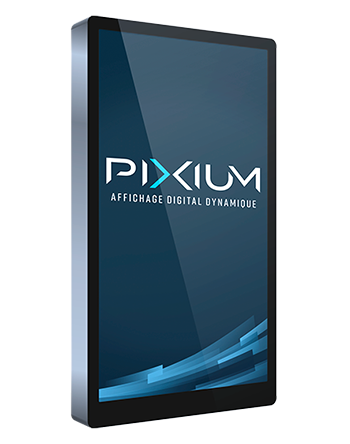 Totem professionnel pour affichage dynamique par Pixium.